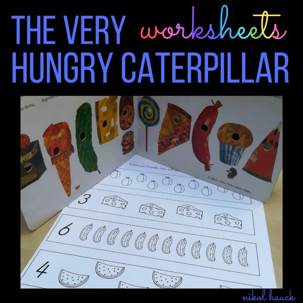 THE VERY HUNGRY CATERPILLAR  (20 pracovních listů pro předškoláky a prvňáky)