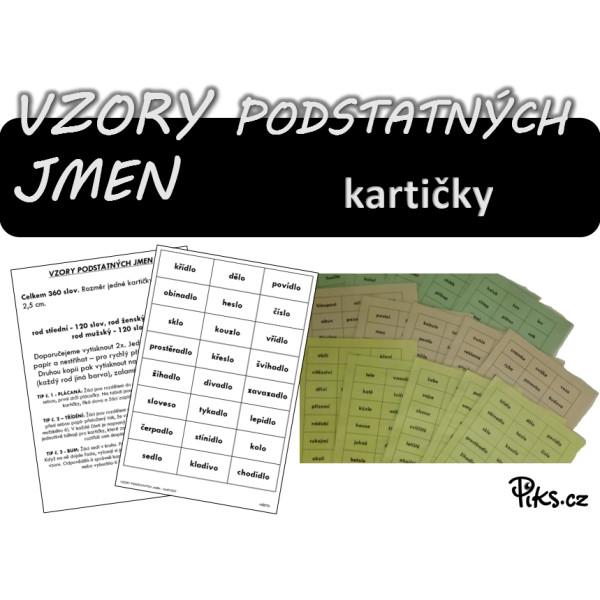 kartičky - VZORY PODSTATNÝCH JMEN